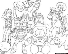 Resultado de imagen para dibujo para colorear toy story 3