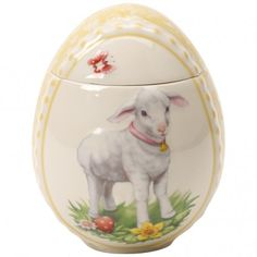 Spring Decoration Egg Box : Lamb 4.75 in