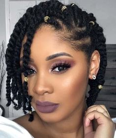 Cute two strand twist natural hairstyle natural hair styles in Protective Hairstyles For Natural Hair, Natural Hair Braids, Girls Natural Hairstyles, Braided Hairstyles For Black Women, Beautiful Hairstyles, Short Twists Natural Hair, Modern Hairstyles, Natural Updo, African Hairstyles