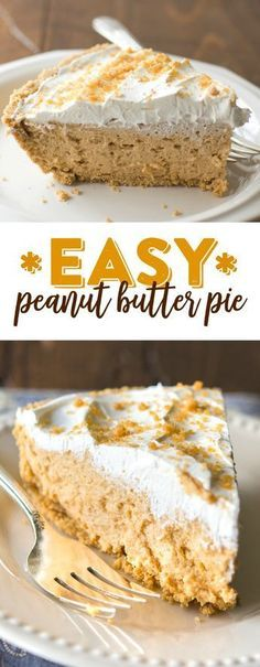 Peanut Butter Pie Easy Peanut Butter Pie Recipe - One Pinner said this easy peanut butter pie is the BEST dessert she's ever made!Easy Peanut Butter Pie Recipe - One Pinner said this easy peanut butter pie is the BEST dessert she's ever made! Desserts Nutella, Desserts Keto, Easy Desserts, Delicious Desserts, Yummy Food, Plated Desserts, Holiday Desserts, Easy Snacks, Holiday Baking