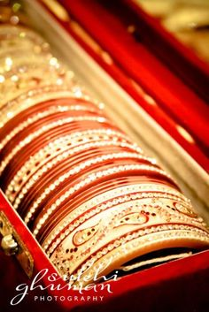 red & gold wedding bangles