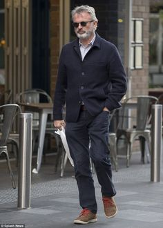 Cool and collected: Actor Sam Neill was out and about in Sydney on Friday, taking in some lunch and a spot of shopping