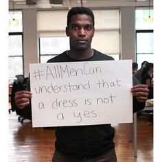 A lot of folks asking about #AllMenCan, it was a photo project I started in 2014 after the Santa Barbara shooting to galvanize men to speak out about violence against women. I'll share more photos over the next days. This is my friend @goodluck_bra and his call to action. Post yours using #AllMenCan! ( @leelee061)