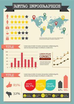 Free Retro Infographic Elements