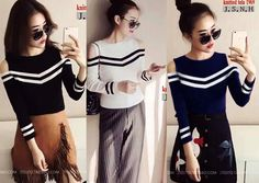 Oma Chic Knitted Tops S-M Free Size