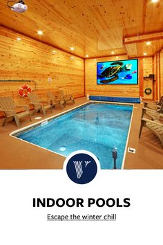 Dream Home Design, Tiny House Design, My Dream Home, Dream Homes, Indoor Pools, Cool Pools, Vacation Rentals, Pool Designs, Winter Snow