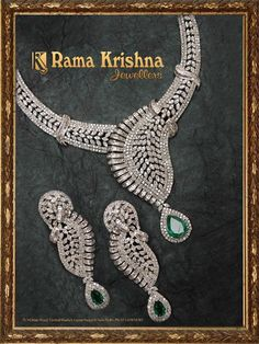 Indian Jewellery and Clothing: Heavy bridal diamond necklace designs from Rama Krishna Jewellers