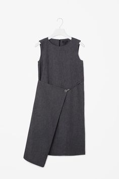 COS | Denim fold-over dress | $125