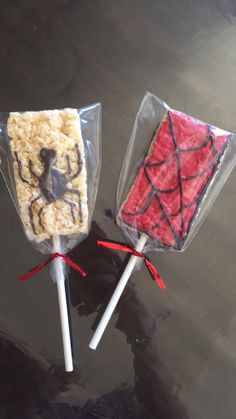 Spiderman themed rice crispies