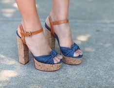 #plataforma escolhida pela blogueira Camila Coelho  #jeans #highheels #saltorolha