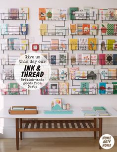 Press cutting: Ink & Thread. Derby design shop. Home Arty Home blog feature.
