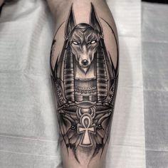 Hermoso Epic Tattoo, Badass Tattoos, Leg Tattoos, Body Art Tattoos, Sleeve Tattoos, Script Tattoos, Arabic Tattoos, Flower Tattoos, Anubis Tattoo