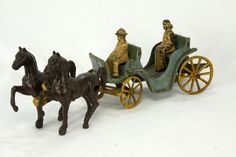Made In USA Cast Iron Horse and Buggy. This is only an estimate. The exact amount will be shown on the invoice. Antique Toys, Vintage Antiques, Vintage Toys, Cast Iron, It Cast, Horse And Buggy, Castle House, Horse Drawn, Cannon