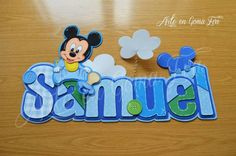 ;) Baby Disney, Smurfs, Bb, Craft Projects, Banner, Crafts, Ideas, Alphabet, Decorated Letters