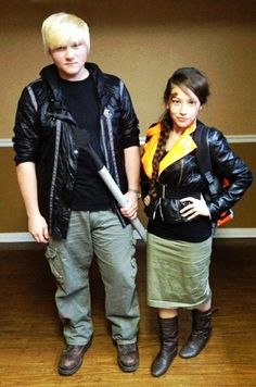 Peeta and Katniss Halloween Costumes