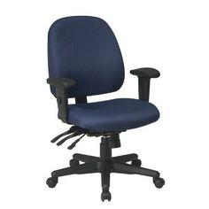 Office Star Ergonomic Mid-Back Desk Chair Upholstery: Festival - Midnight Blue
