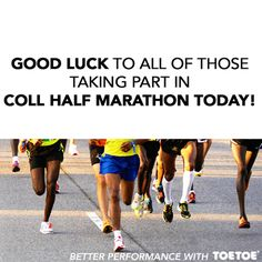 It was Coll Half Marathon at the weekend! #TOETOESocks #TOETOE #Socks