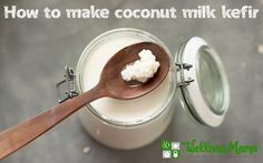 Coconut Milk Kefir is a delicious and probiotic rich drink made by fermenting coconut milk with milk kefir grains. It's easy to make at home