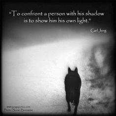 Carl Jung Depth Psychology: To confront a person with his shadow. actually, I think the wiser and humbler place to start is to keep the finger pointed at locating your own shadow! Sigmund Freud, Motivacional Quotes, Life Quotes, Faith Quotes, Qoutes, Intp, Infj Infp, Eckhart Tolle, Osho