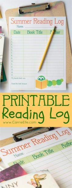 Printable Reading Log for Kids: Keep the kids busy with books this summer with this free printable reading log for kids!