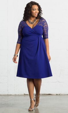 071a80819b6 Check out the deal on Lavish Lace Dress at Kiyonna Clothing Plus Size  Cocktail Dresses