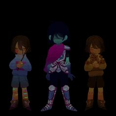 Frisk, Kris and Chara Undertale Gif, Undertale Drawings, Frisk, Undertale Theories, Kfc, Sans And Papyrus, Toby Fox, Indie Games, Illustrations