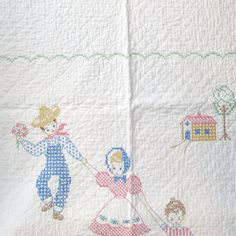 Farmer the the Dell Quilt thats handmade