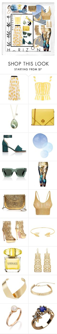 """Stuff"" by stylishbysamantha ❤ liked on Polyvore featuring Christopher Kane, Thierry Colson, Meira T, Tory Burch, Valentino, Givenchy, From St Xavier, Amba, Alexander McQueen and Lord & Taylor"