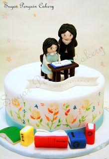 Classroom/kumon themed cake