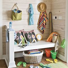 48 Entryway & Mudroom Inspiration & Ideas {Coat Closets, DIY Built Ins, Benches, Shelves and Storage Solutions} - bystephanielynn