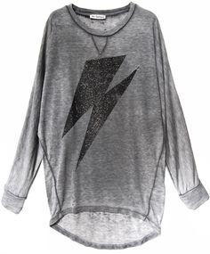 Liv Bergen Batwing Sweater Audrey FLASH dark grey