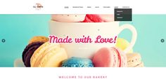 Tasty mouthwatering #WordPress theme for #cafe or #bakery