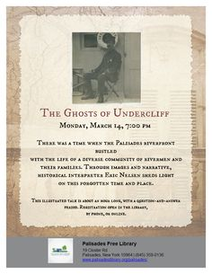 Ghosts of Undercliff - Monday, March 14, 7:00pm