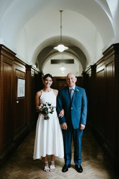 """Bride of Ollichon, Carol - """"I love crop tops and skirts, it was so me to have that be my Town Hall and party dress."""" Shop Carol's stunning bridal separates now at http://houseofollichon.co.uk/shop #registryofficewedding #alternativeweddingdress #bridaljumpsuit #bridalwear #jumpsuit #twopiece #mismatched"""
