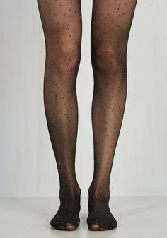 These semi-sheer tights will make you wanna shout - with glee, of course! They feature Commando's signature flexible waistband boasting a seamless edge, along with glimmering gold tinsel dots, making for haute black hosiery as dynamic as it is dance floor ready.