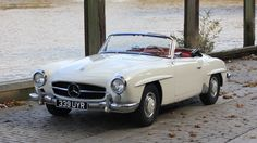 1959 Mercedes Benz #190SL in MB 050 white with factory red leather trim.  Pic © silverarrows.co.uk / #BruceAdams190SL #190SLRestorations #germancars