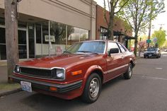 OLD PARKED CARS.: 1981 Honda Prelude.