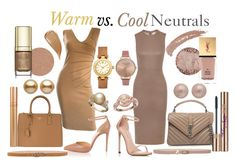 Warm vs. Cool Neutrals by prettyyourworld on Polyvore featuring Alessandro Dell'Acqua, Iris & Ink, Christian Louboutin, Stuart Weitzman, Yves Saint Laurent, Prada, Christian Dior, Tory Burch, Olivia Burton and Valentino