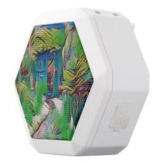 Abstract painting early autumndigital art moder white bluetooth speaker - beauty gifts stylish beautiful cool