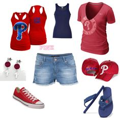 Philadelphia Phillies Outfit, created by kml1818 on Polyvore