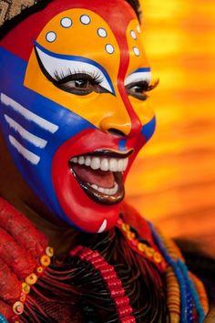 Broadway Nala's eye makeup   stage makeup ideas ... Lion King Broadway Zazu