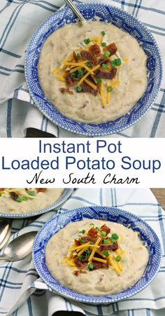 Instant Pot Loaded Potato Soup is easy, economical, and filling. | newsouthcharm.com | #instantpot #soup #recipes