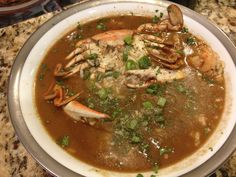 Our Seafood Gumbo- made from scratch! Seafood Gumbo, Thai Red Curry, Ethnic Recipes