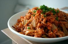 Kimchi fried rice is mostly enjoyed at home, but you might also see it in some casual Korean eateries. It& a great way to use kimchi past its prime. Rice Recipes, Asian Recipes, Cooking Recipes, Healthy Recipes, Ethnic Recipes, Asian Foods, Chinese Recipes, Brunch Recipes, Cooking