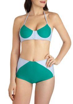 Park Party Swimsuit Top   Mod Retro Vintage Bathing Suits   ModCloth.com