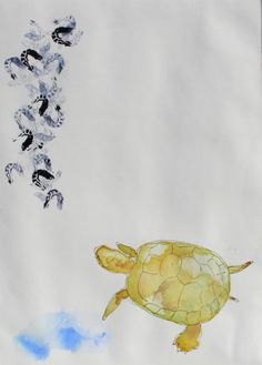 """""""turtle"""", drypoint etching, Charlotte Donkers"""