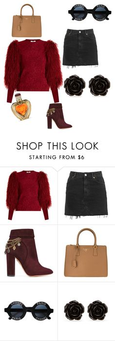 """That's what she says"" by calistar71 on Polyvore featuring Sonia Rykiel, Topshop, Aquazzura, Prada, Chanel, Erica Lyons and Victoria's Secret"