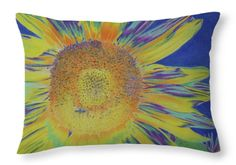 Sunflowers Throw Pillow featuring the drawing Sunwondrous by Cris Fulton