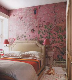 pink chinoiserie