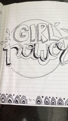 Girlpower😎👋🏽#girls#selfmade#love#bulletjournal#handlettering#cool#love#girlpower